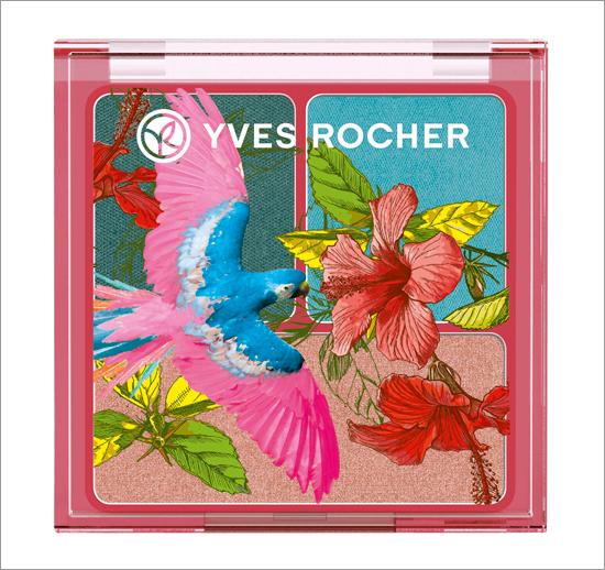 Yves Rocher Eyeshadow Trio Pêche melba - Bleu des Bermudes - Eucalyptus.