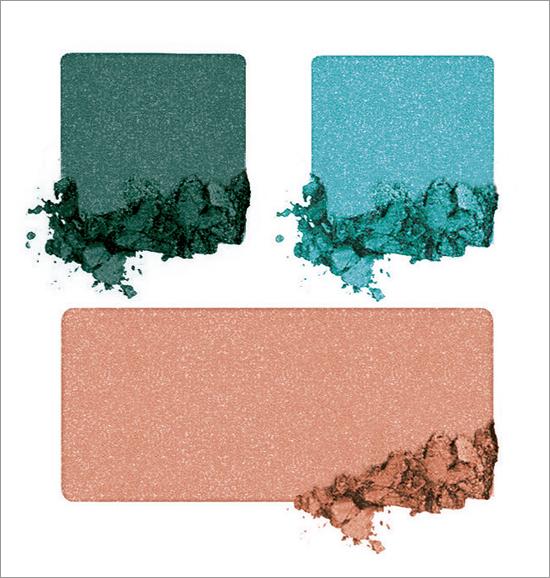 Retropical Eyeshadow Trio Pêche melba / Bleu des Bermudes / Eucalyptus