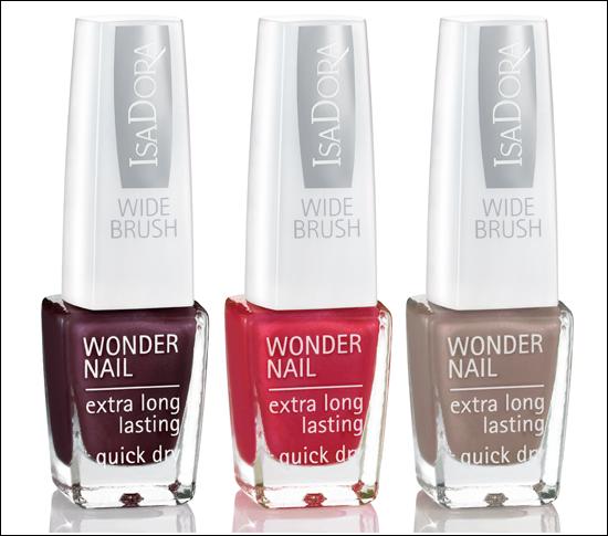 IsaDora Trend Nails A/W 2011 642 Zinfandel, 644 Red Alert, 708 Cool Camel