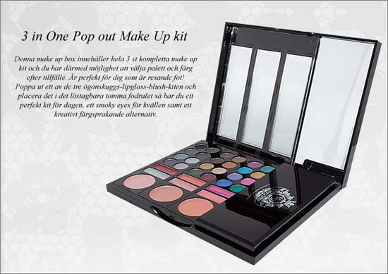 3 in One Pop Out Make Up Kit