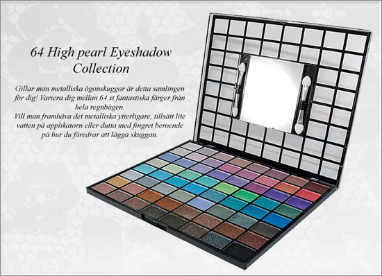 64 High Pearl Eyeshadow Collection