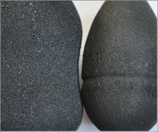 Makeup Blending Sponge (love-makeup.co.uk) vs Make Up Store Egg Sponge