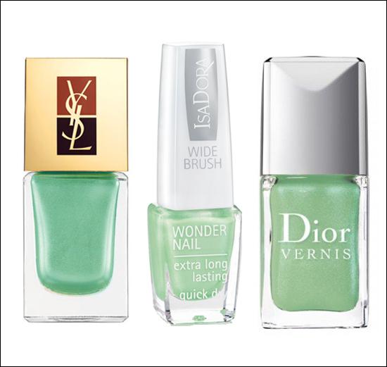 Grönt är skönt! Vårens IT-färg på naglarna