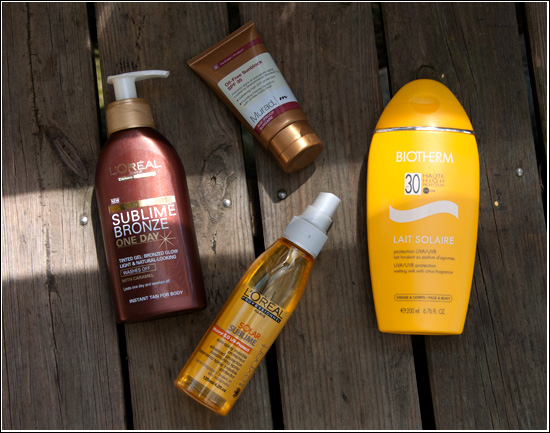 L'Oréal Solar Sublime Advanced Protection Conditioning Spray, Murad Oil-Free Sunblock SPF 30, L'Oréal Sublime Bronze One Day Body, Biotherm Lait Solaire SPF 30