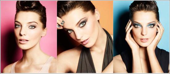 Daria Werbowy visar #1 från varje kategori Hypnose Palettes.