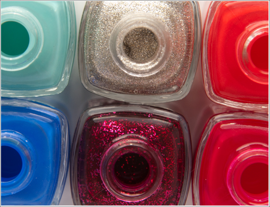 Essie Winter Collection 12/13 Swatches Leading Lady, Butler Please, Beyond Cozy, She's Pampered, Where's my chauffeur?, Snap Happy