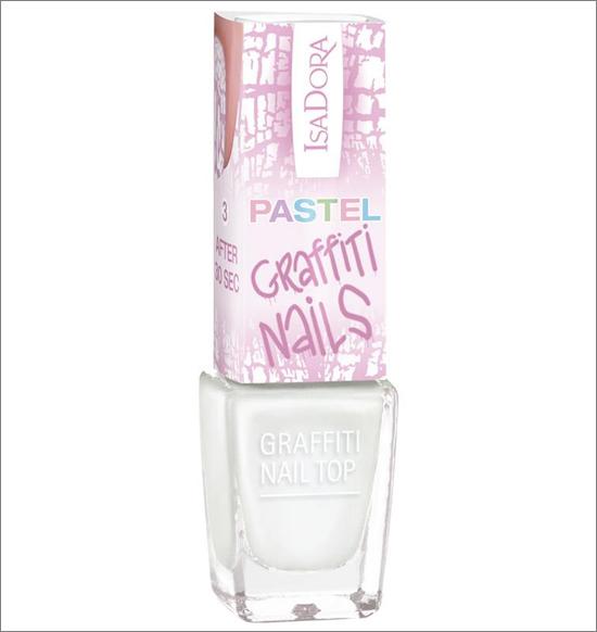 IsaDora 815 Linen Pastel Graffiti nail