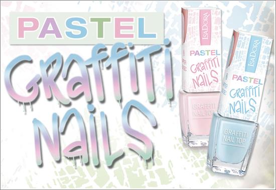 IsaDora Pastel Graffiti Nails