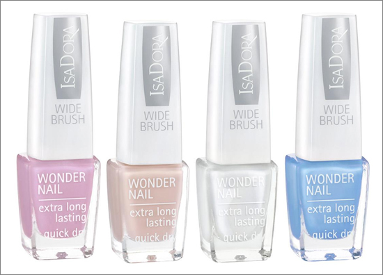 IsaDora WONDER NAILS 516 Bardot Pink 634 Nude Skin 649 Glamour White 711 Miami Blue