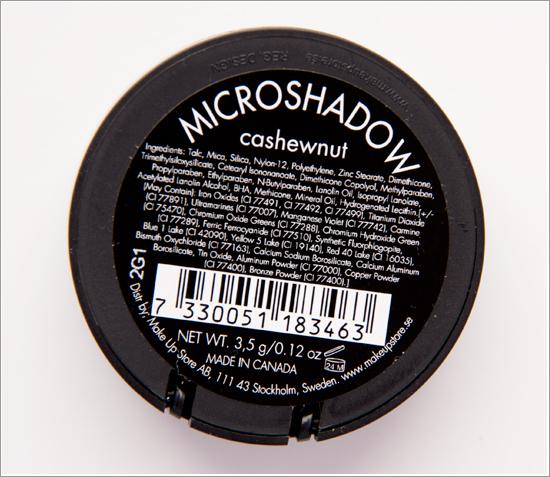 Make Up Store Microshadow Cashewnut