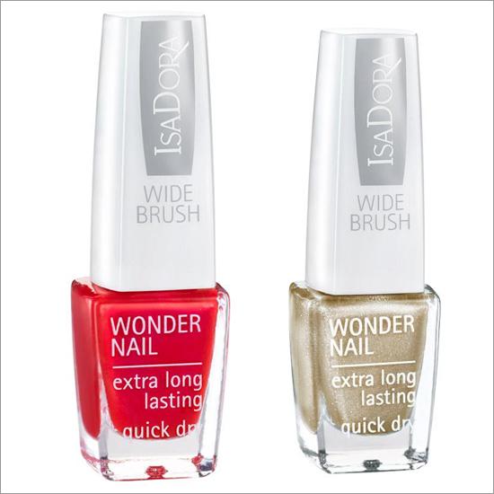 IsaDora WONDER NAIL 636 Latina Red 652 Gold Sparkles 713 South Beach 718 Bronze Patina
