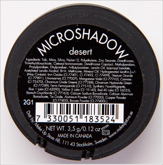 Make Up Store Microshadow Desert