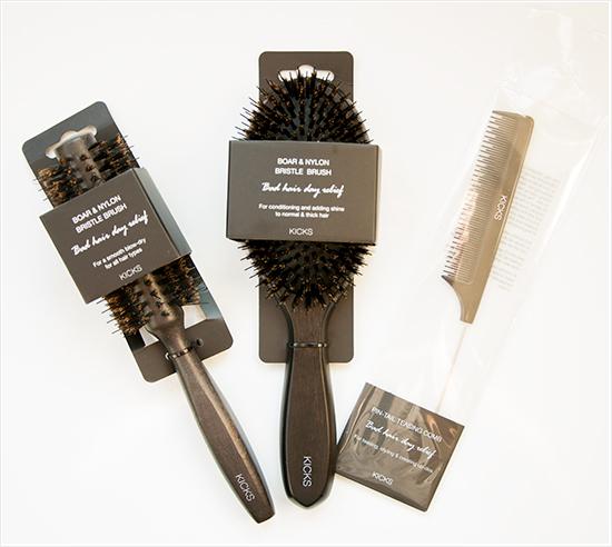 KICKS Boar & Nylon Bristles Brushes