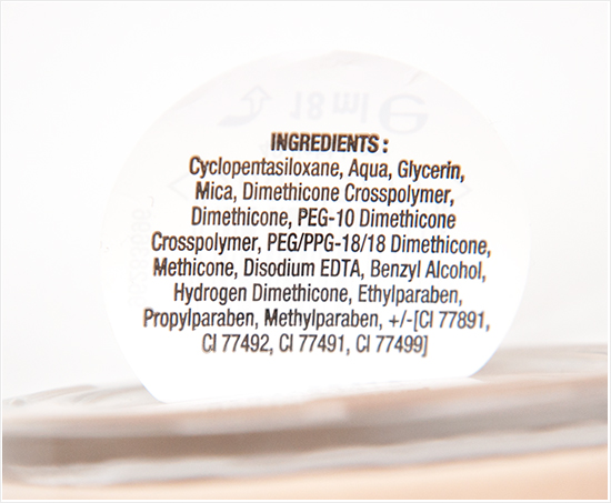 Max Factor Whipped Cream Foundation Ingredients